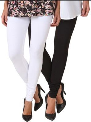 Fasense Women's White, Black Leggings