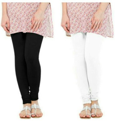 Zuri Women's Black, White Leggings