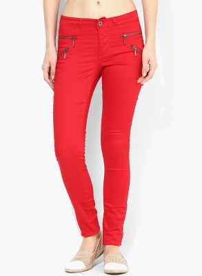 Only Women's Red Jeggings