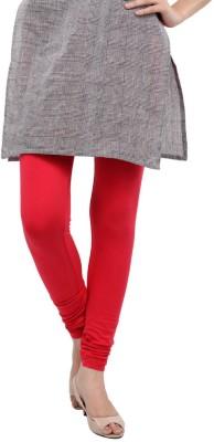 LadyBuzzz Women's Red Leggings