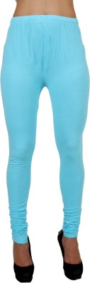 C/Cotton Comfort Women's Light Blue Leggings