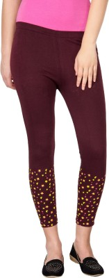 Le Bison Women's Maroon Leggings