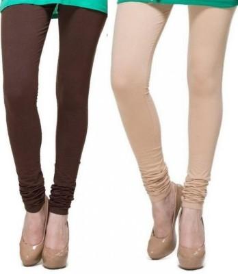 Zadine Women's Brown, Beige Leggings