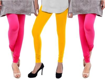 Sampoorna Collection Women's Yellow, Pink, Pink Leggings