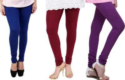 Lienz Women's Blue, Maroon, Purple Leggings