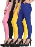 FIFO Women's Multicolor Jeggings (Pack o...