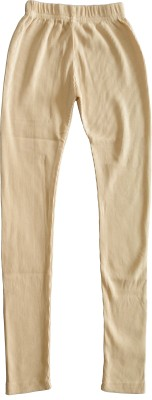 Myfaa Girl,s Beige Leggings