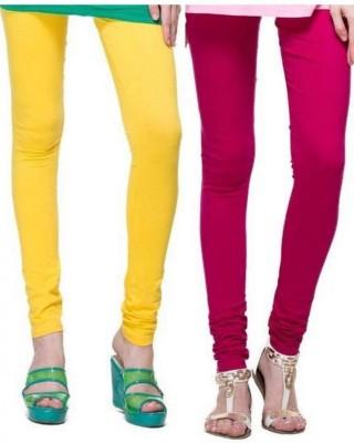 StyleJunction Women,s Pink, Yellow Leggings