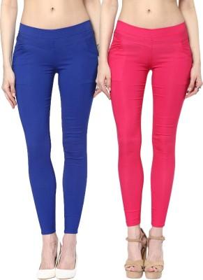 Zea-Al Women's Blue, Pink Jeggings