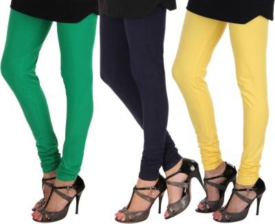 Itnol International Women's Black, Blue, Yellow Leggings