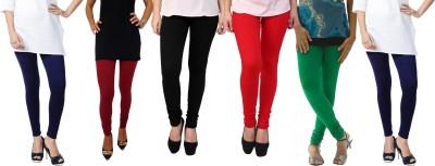 Escocer Women's Blue, Black, Maroon, Red, Green Leggings