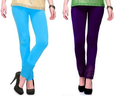 RobinRomeo Women's Purple, Blue Leggings