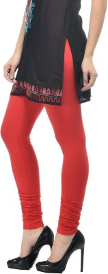 Vrshoppers Women's Red Leggings