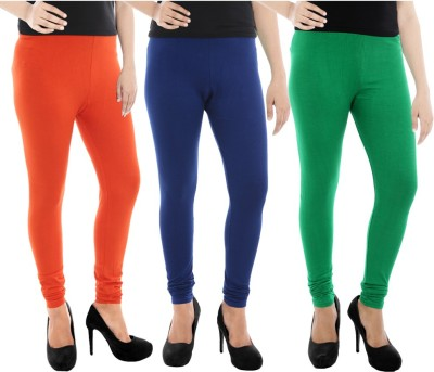 Paulzi Women's Orange, Blue, Green Leggings