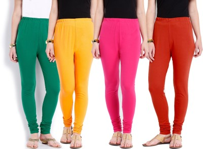 Ten on Ten Women's Pink, Orange, Yellow, Green Leggings
