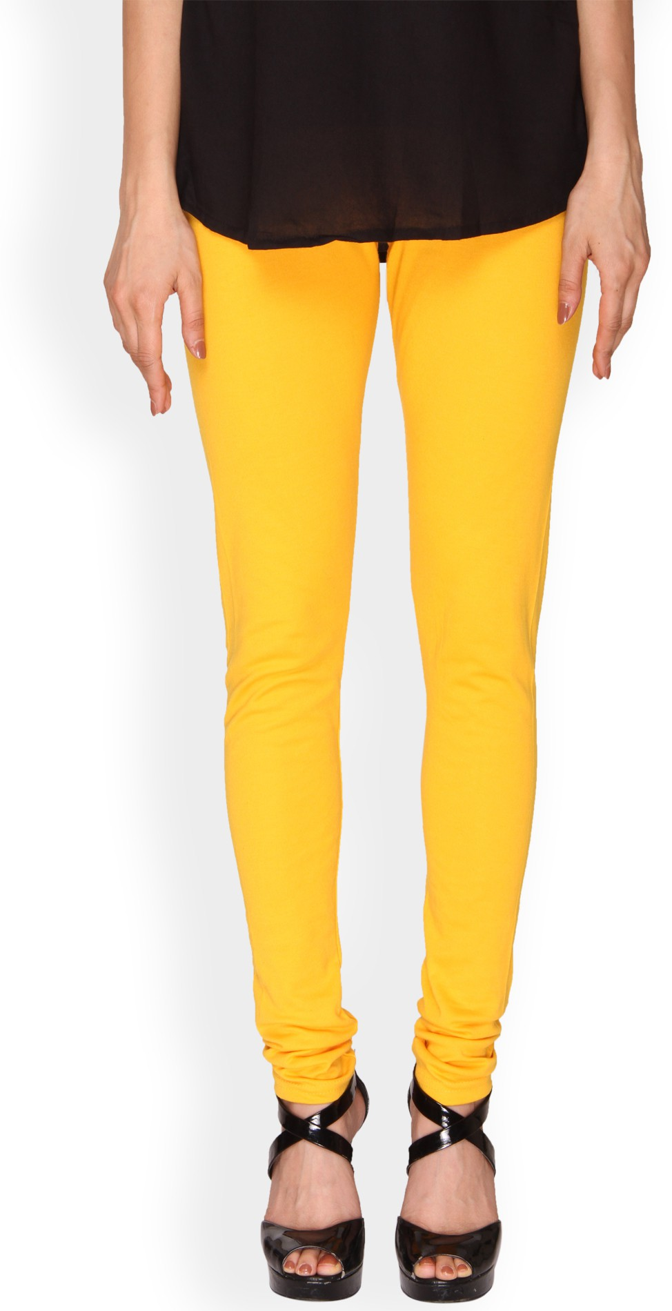 Ten on Ten Womens Yellow Leggings
