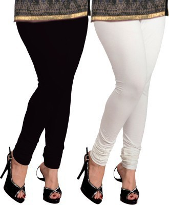 Pert Fashion Women's White, Black Leggings