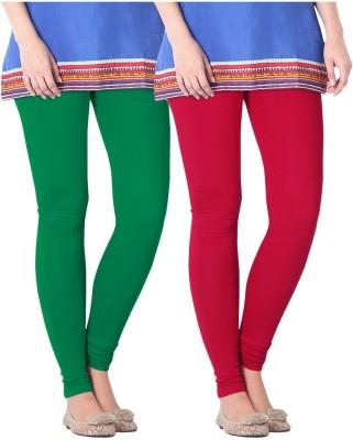 Nice Fit Women's Green, Red Leggings