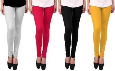 Escocer Women's White, Black, Pink, Beige Leggings