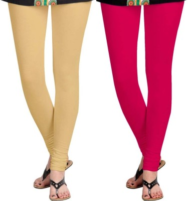 Roshni Creations Women's Pink, Beige Leggings