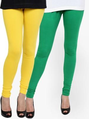 Zavlin Women's Yellow, Green Leggings