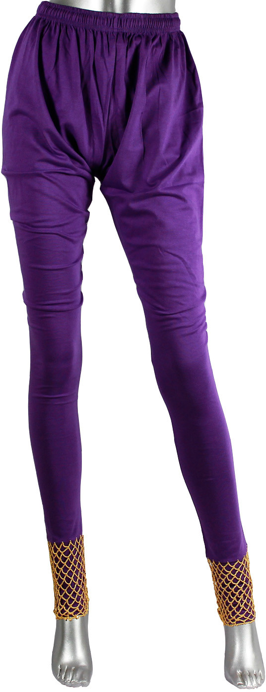 moKanc Womens Purple Leggings