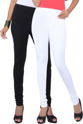 Fascino Women's Black, White Leggings