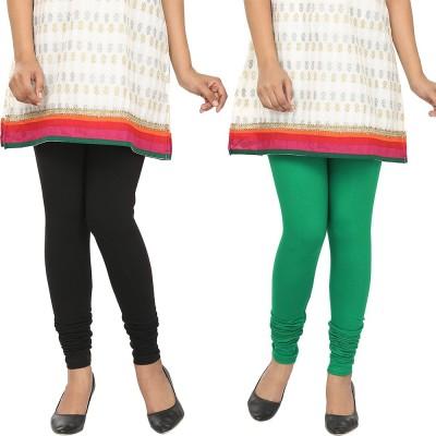 Agrima Fashion Women's Black, Green Leggings
