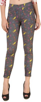 Fame16 Women's Grey Jeggings at flipkart