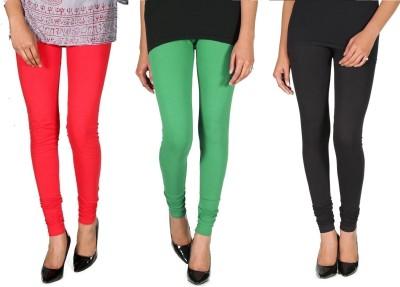Ally Of Focker Women's Red, Black, Green Leggings
