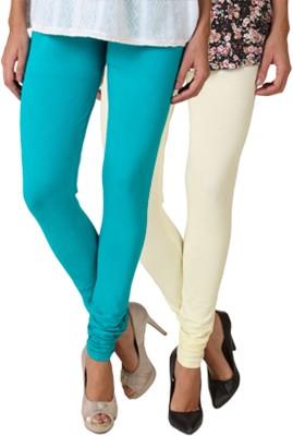 Fasense Women's White, Green Leggings