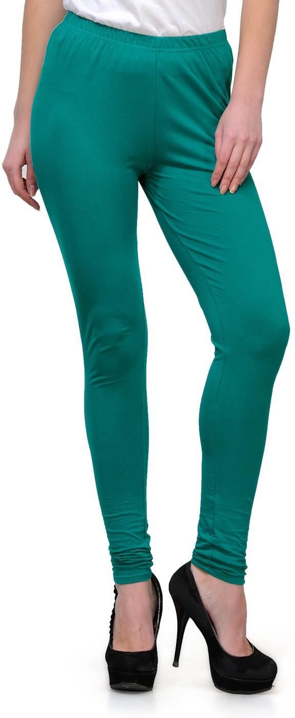 Ffu Womens Green Leggings