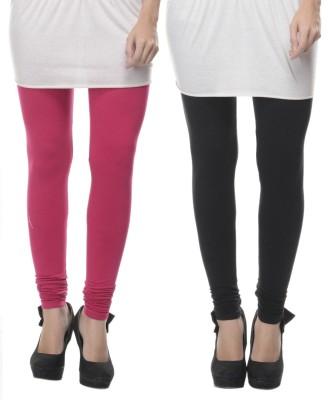 Lavennder Women's Black, Pink Leggings