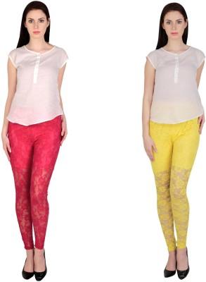 Simrit Women's Pink, Yellow Leggings