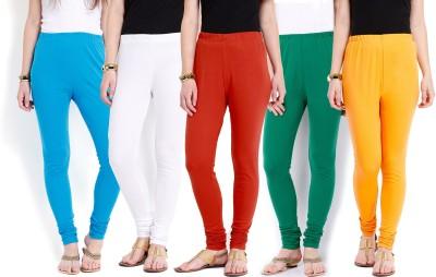Ten on Ten Women's Blue, Orange, White, Green, Yellow Leggings