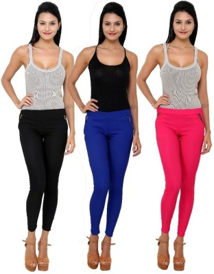 Dimpy Garments Women,s Black, Pink, Blue Jeggings