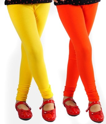 divine creations Women,s Yellow, Orange Leggings