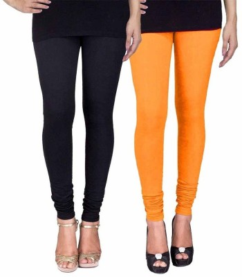 Ayesha Fashion Women's Black, Yellow Leggings