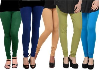 Kjaggs Women's Blue, Dark Green, Green, Beige, Blue Leggings