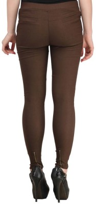 Fashion Arcade Women's Brown Jeggings