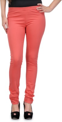 Fashion Cult Women's Pink Jeggings