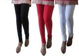 LatestQ Women's Red, White, Black Leggin...