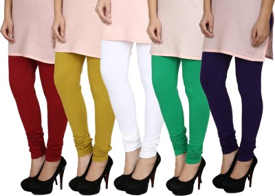 Fizzaro Women's Red, Green, White, Blue, Green Leggings