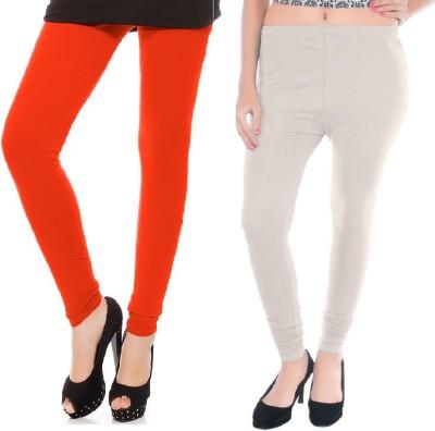 Colors More Women's Orange, White Leggings