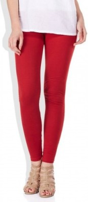 Desi Fusion Women's Red Leggings