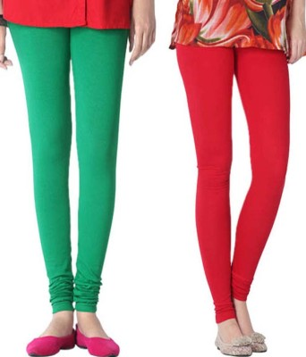 StyleJunction Women,s Red, Green Leggings