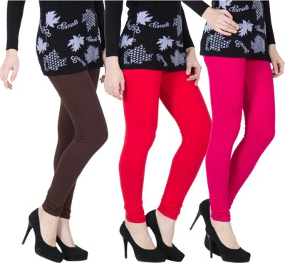 VERMELLO Women's Brown, Red, Pink Leggings