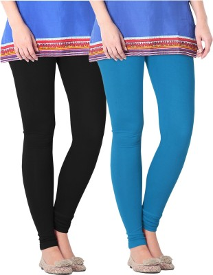 Nice Fit Women's Black, Blue Leggings