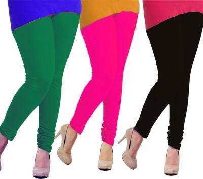 Tyra Women's Green, Pink, Black Leggings