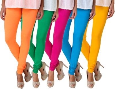 Fasense Women's Yellow, Light Green, Pink, Blue Leggings